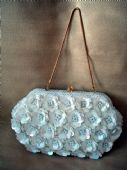 1960's Satin Purse with Sequinned Flowers (SOLD)